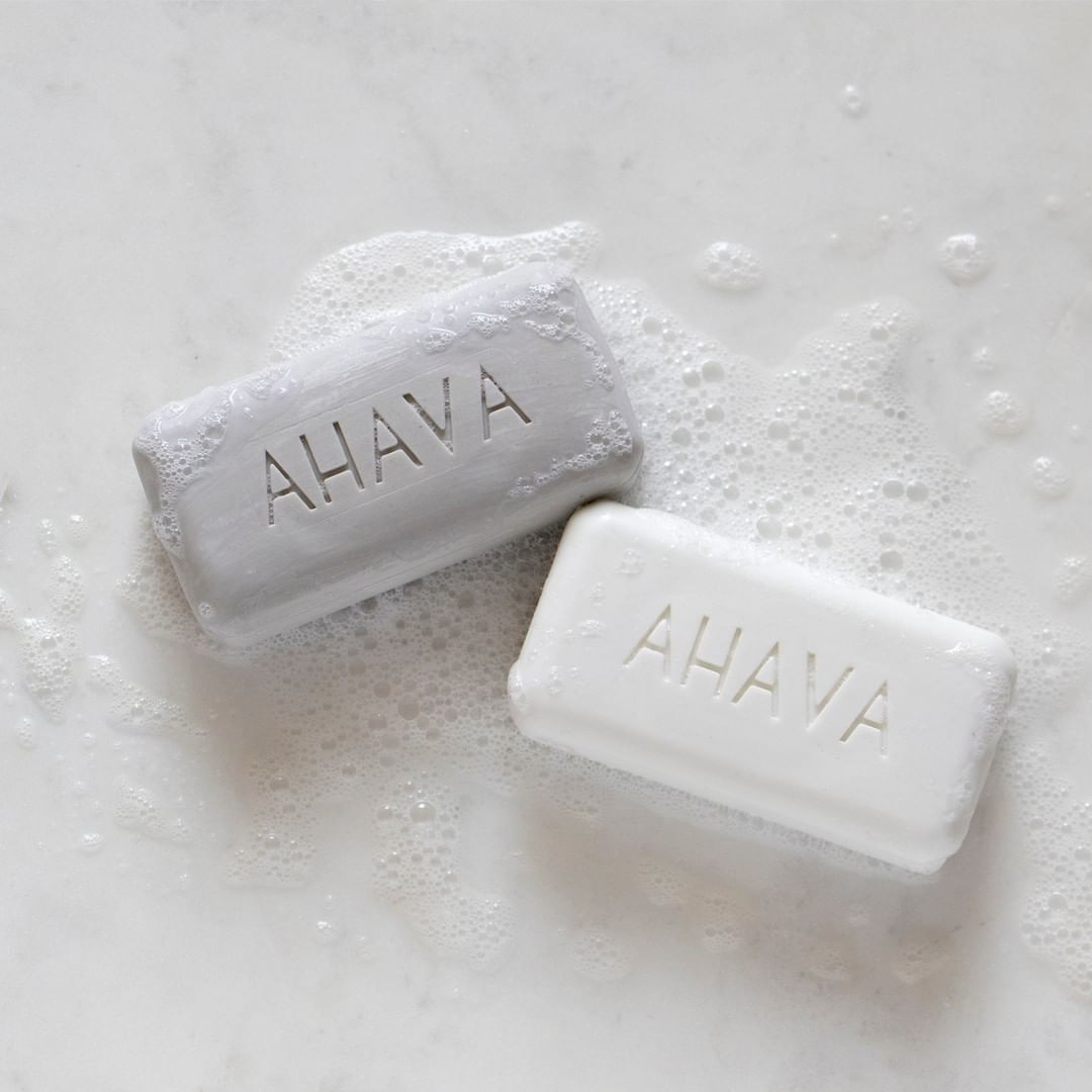 AHAVA - Splish Splash we were taking a... cold shower 🛁 Remove environmental impurities and restore your skin's natural PH with our incredible Dead Sea Salt Soaps. #ahavameanslove⁠ .⁠ .⁠ .⁠ .⁠ #ahava...