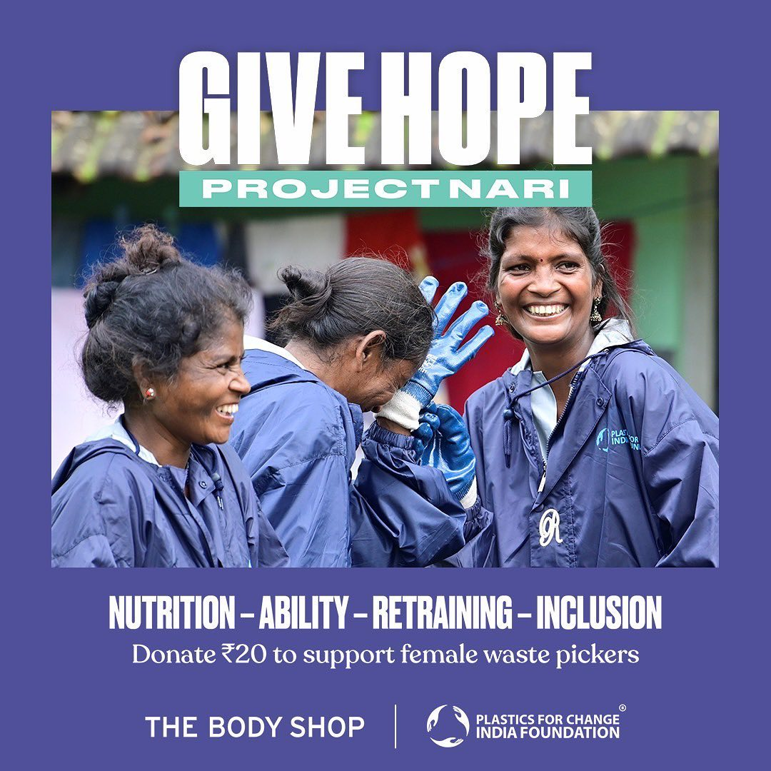 The Body Shop India - This year, we are all celebrating Diwali with a difference. The Body Shop partnered with Plastics for Change India Foundation to launch – PROJECT NARI! ​ @plasticsforchange   ​Th...
