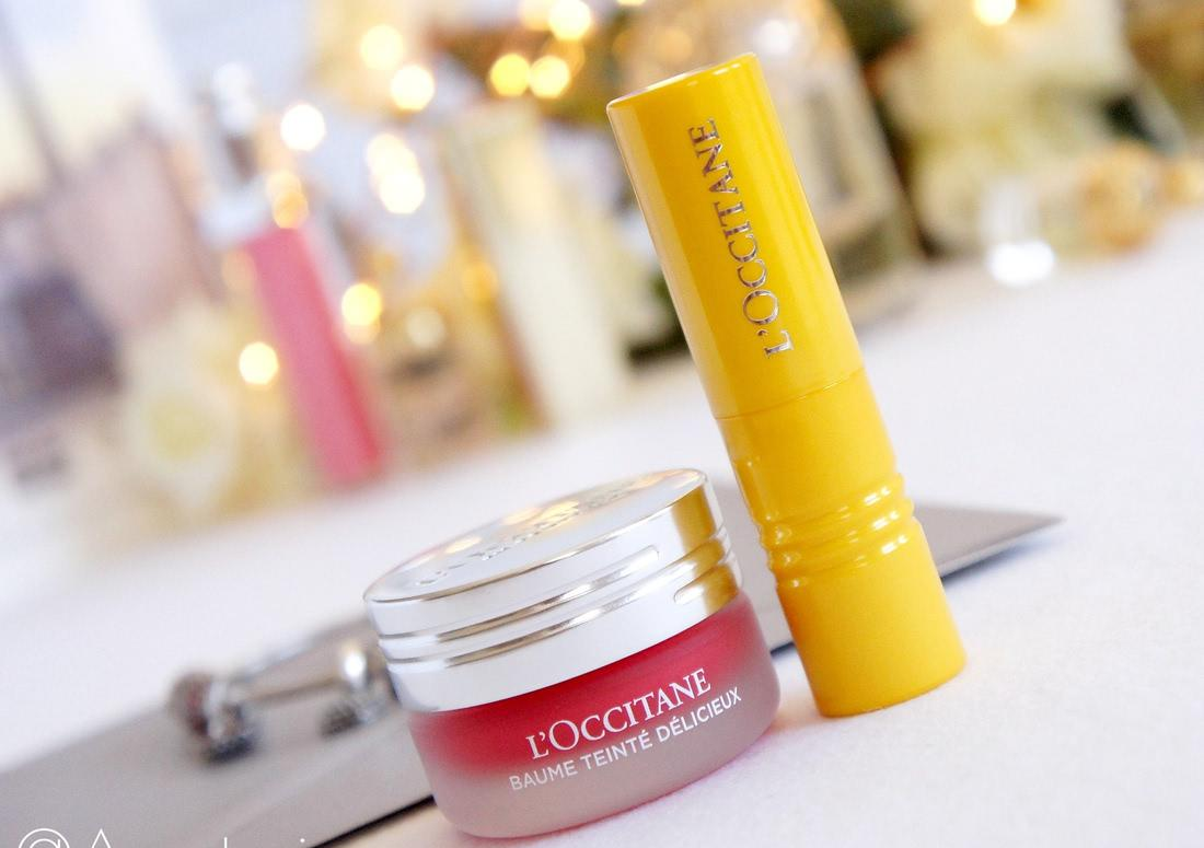 L'occitane Fruity Lipstick 030 Provence Sunset & Delicious Tinted Balm 020 Grenadine in Love - отзыв
