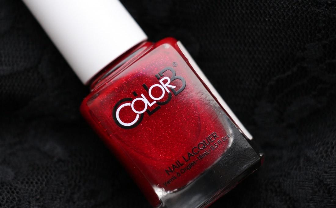 Color Club Nail Lacquer 489 Ruby Slippers + дизайн со стразами Swarovski Elements - отзыв