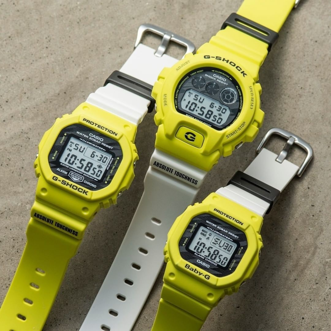 Casio USA - Caution. High voltage style ahead. ⚡⁠ Shop the new Lightning Yellow Collection from G-SHOCK and Baby-G.⁠ •⁠ •⁠ •⁠ •⁠ •⁠ •⁠ •⁠ •⁠ #casio #gshock #babyg #watchesofinstagram #gshockwatch #bab...