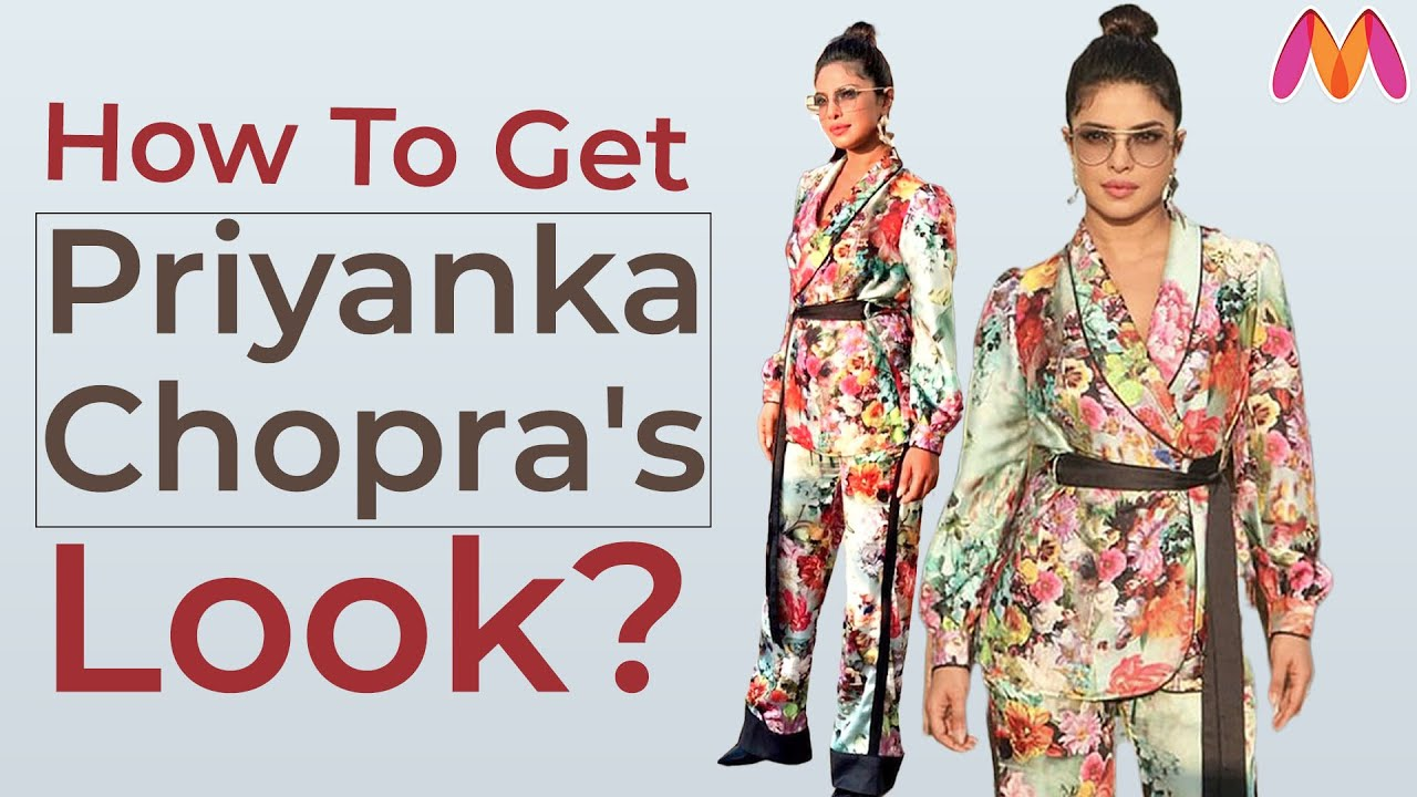 How To Wear Floral Prints Like Priyanka Chopra | Celebrity Inspired Look | Myntra