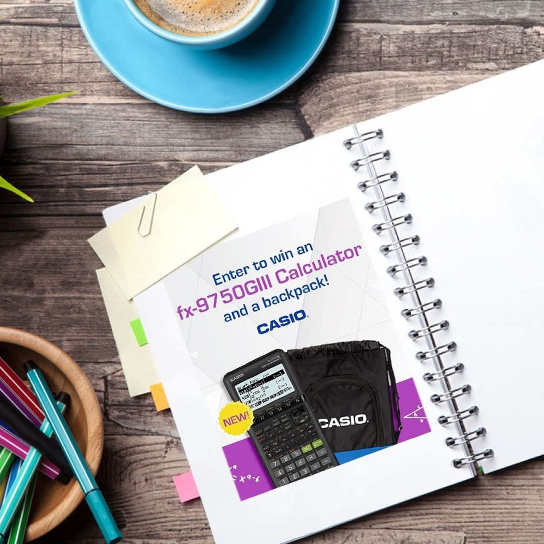Casio USA - Casio Education is giving away an fx-9750GIII calculator and a backpack to one lucky winner every month for the next four months! Enter for your chance to win the 'Learning Beyond the Clas...