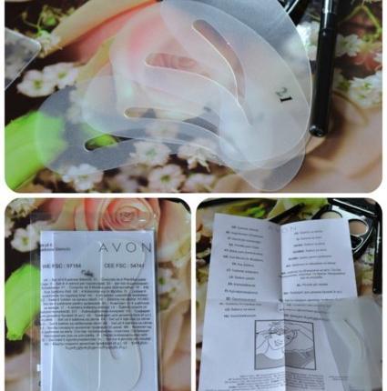 Трафарет для дизайна бровей (4 шт.) Avon