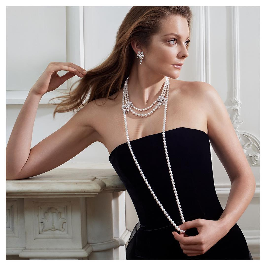 With pearls by Harrods & MIKIMOTO