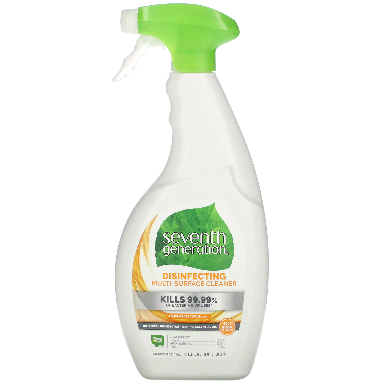 Seventh Generation, Disinfecting Multi-Surface, Lemongrass & Thyme,