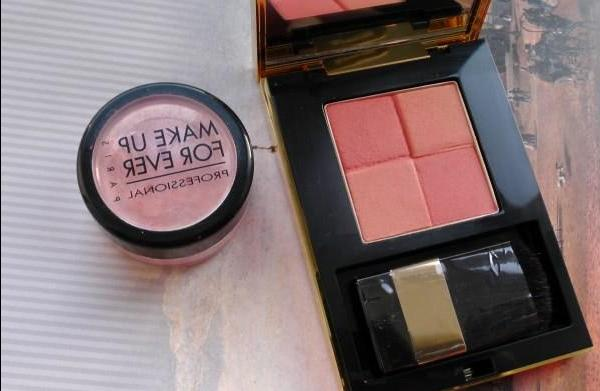 Orange blush and eyeshadow: YSL Blush Radiance (02) and Make up for ever Star Powder 90953 - review