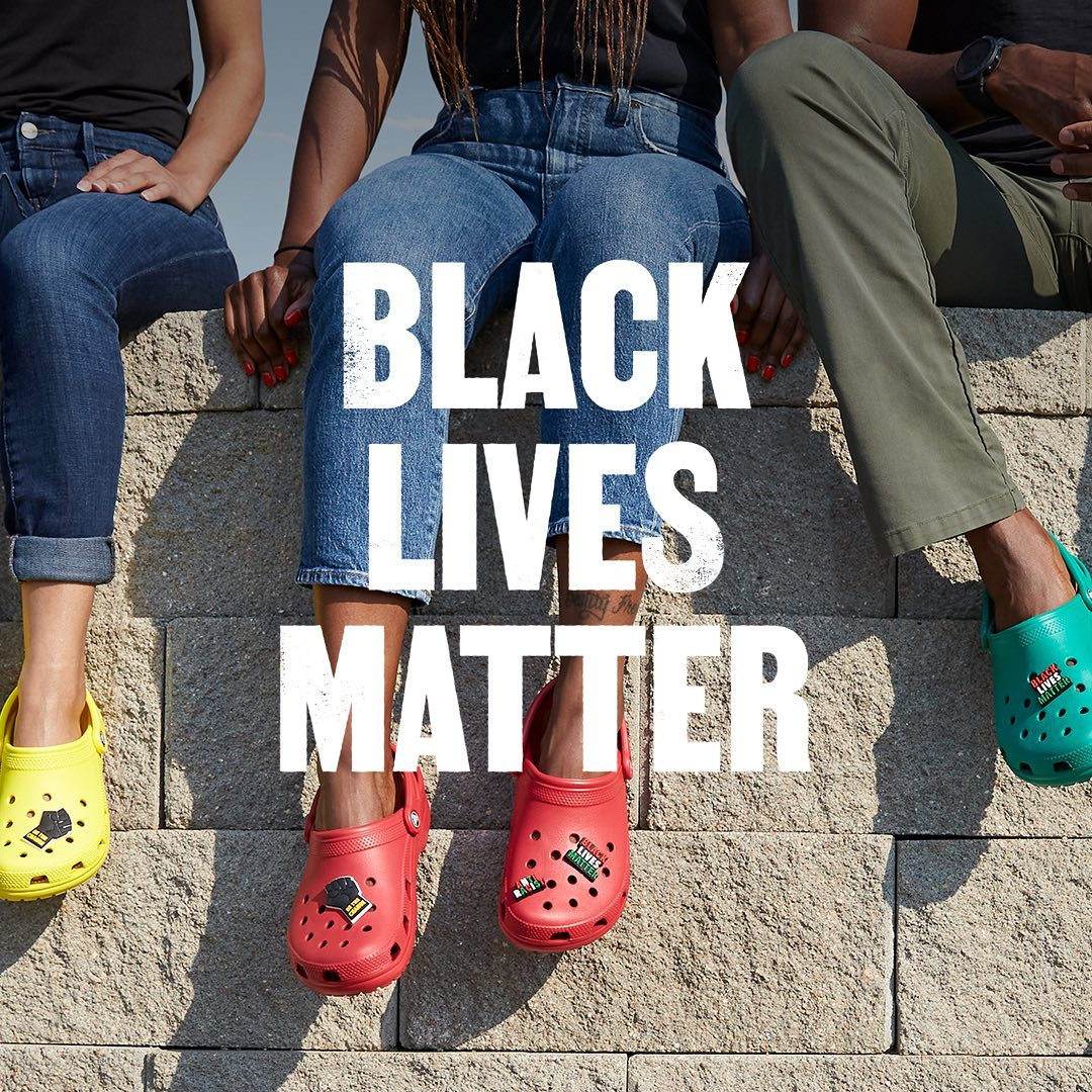 Crocs Shoes - You asked, we created. Black Lives Matter Jibbitz charms are now available. We are proud of these charms and proud to donate to @NAACP in support of equality and progress.