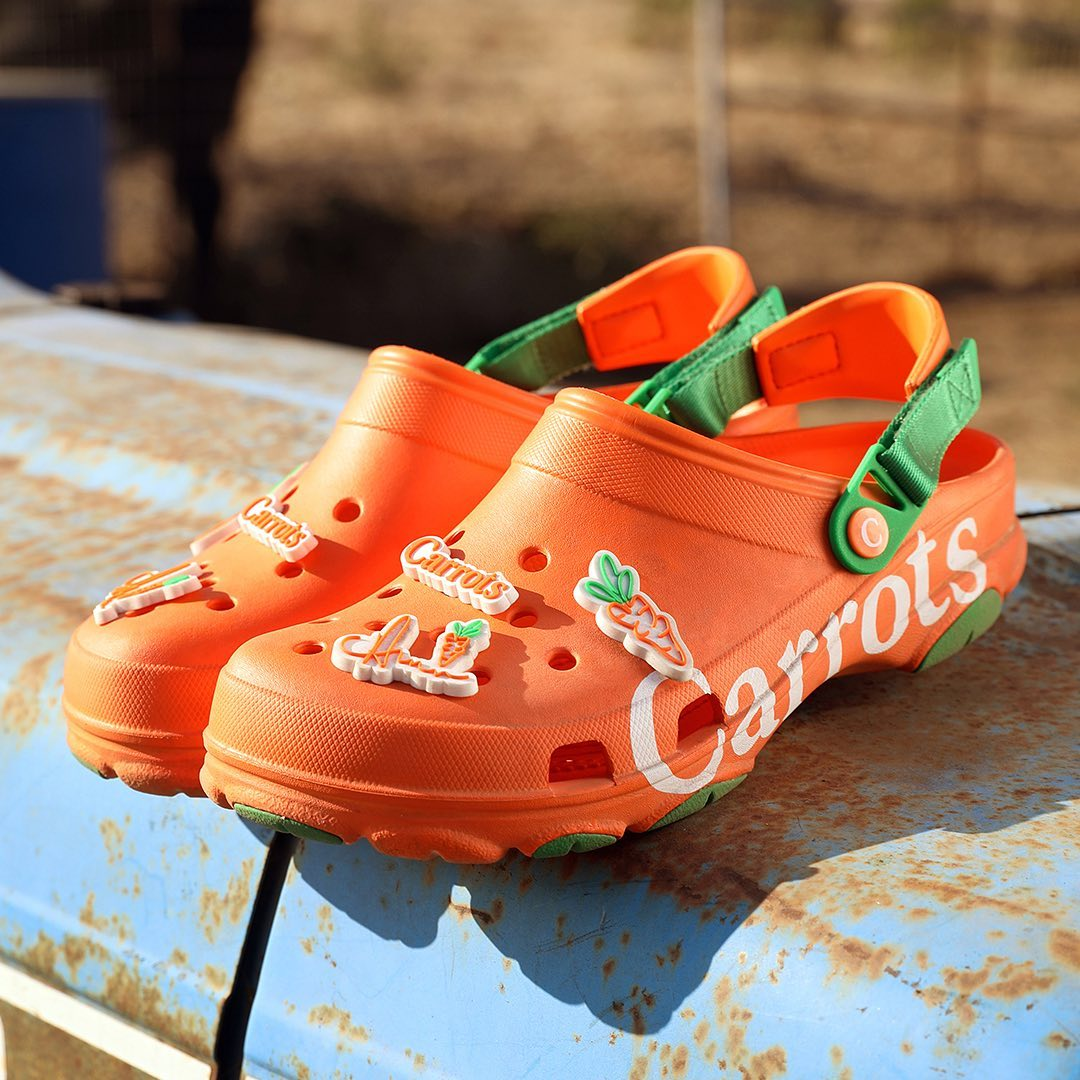 "Crocs Shoes - We are joining forces with @Greenhouse and 3 incredible designers to bring a few ""out of the box"" collabs to life! We are excited to launch this project with @carrotsbyanwarcarrots whose..."