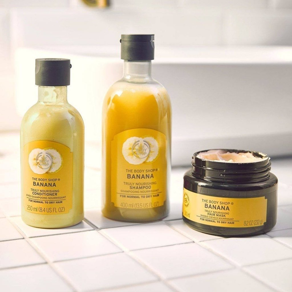 The Body Shop India - We aren't frazzled by frizz! We've blended the nourishment your hair needs with our Banana haircare range, enriched with real Ecuadorian banana puree. ​  🍌 The shampoo gently cle...