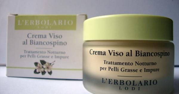 Ночной крем для проблемной кожи L`erbolario Crema Viso al Biancospino/L'Erbolario Hawthorn cream night treatment - отзыв