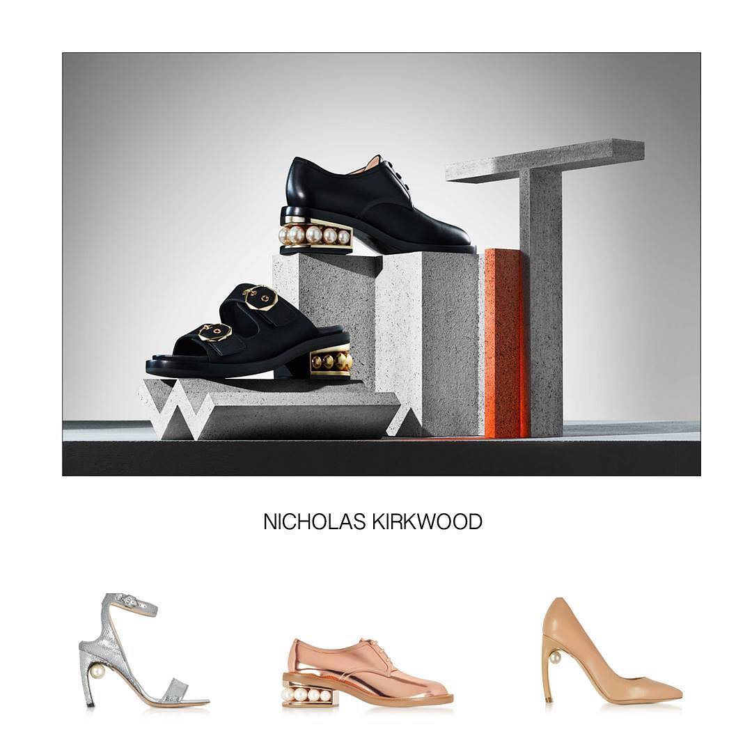 JustLounge - PRETTY PEARLESCENTS: Elevate your look with these lustrous pearly accents to set you apart. Shop the new Nicholas Kirkwood at Justlounge. . . . . #nicholaskirkwood #shoes #justlounge #sty...