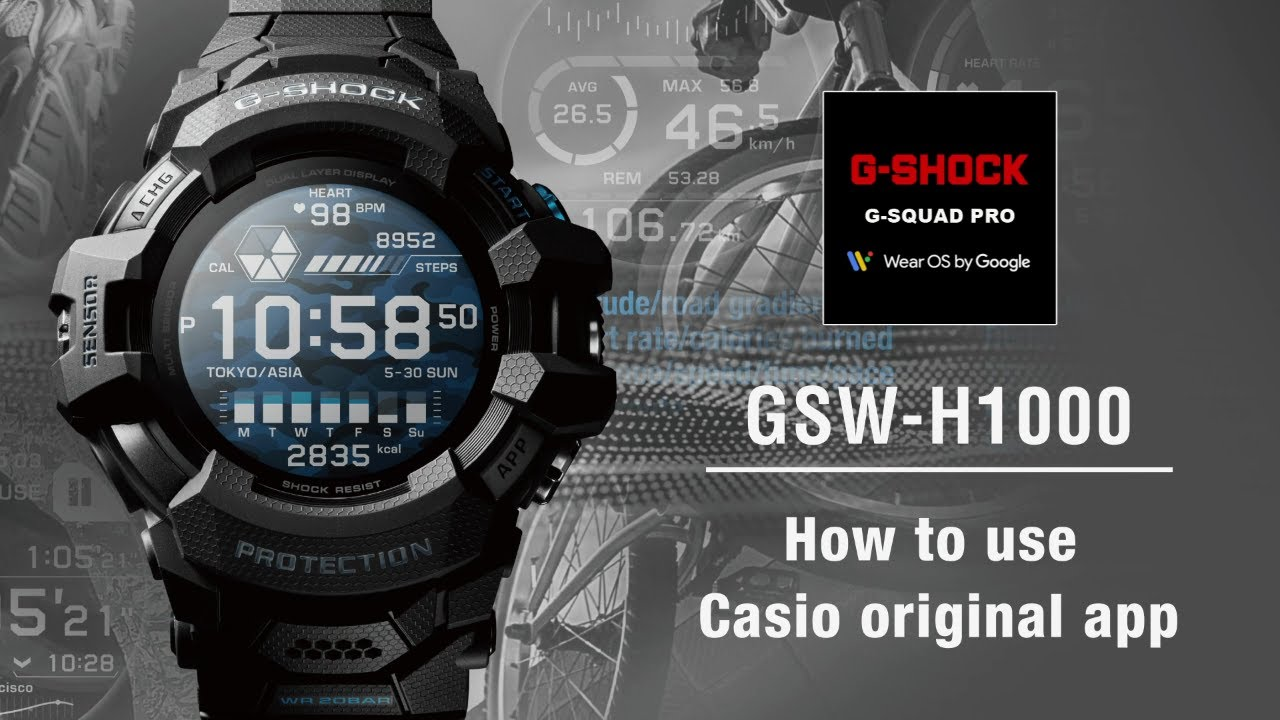 Tips Vol.04: How to use Casio original app | CASIO G-SHOCK GSW-H1000