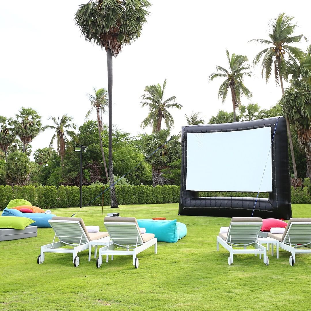 Casio USA - Our favorite type of summer movie scene? Backyard, big screen, and beneath the palm trees with projection from Casio LampFree. ⁠ Shop special offers -  link in bio. ⁠ •⁠ •⁠ •⁠ •⁠ •⁠ •⁠ •⁠...