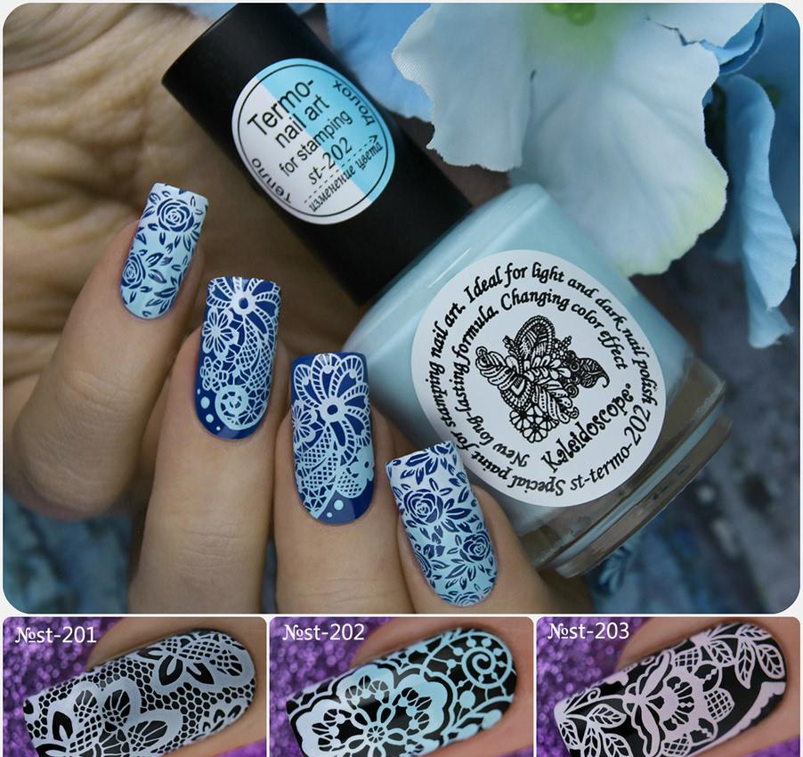 Kaleidoscope by EL Corazon. Special paint for stamping nail art