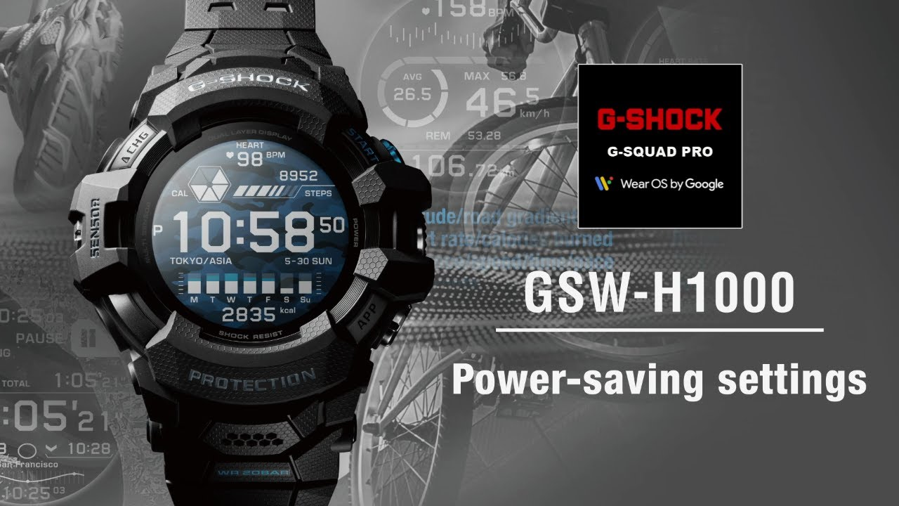 Tips Vol.03: How to use power-saving settings | CASIO G-SHOCK GSW-H1000