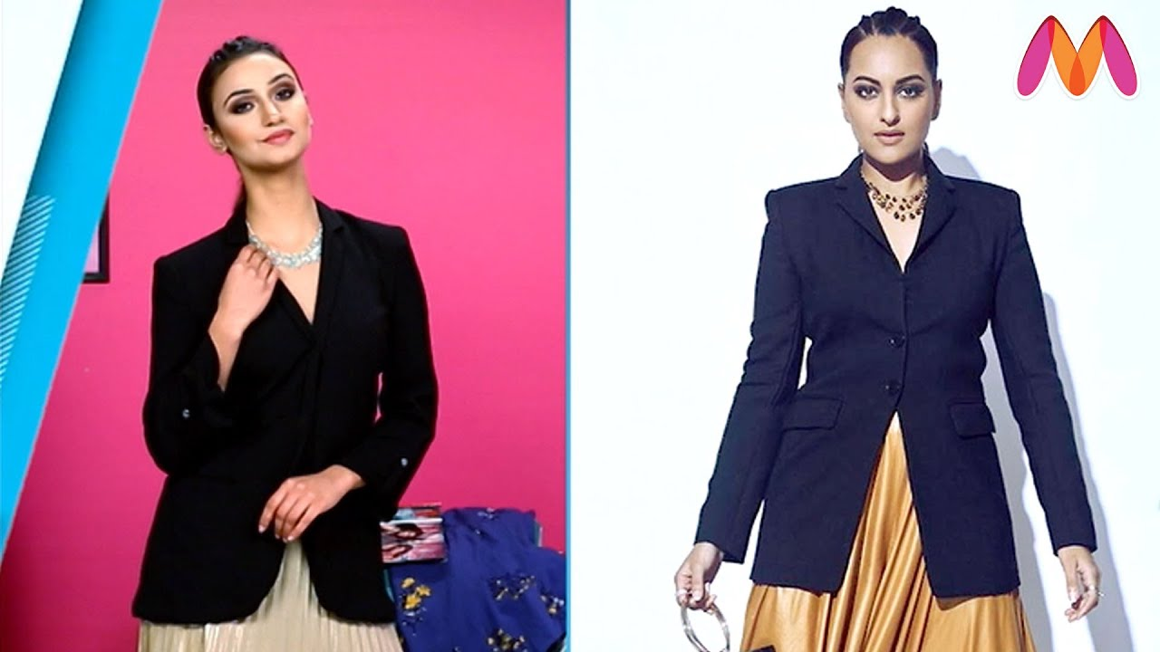 How To Get Sonakshi Sinha's #BlazerSkirt Look? | Celeb Style Playbook For Broke Girls | Myntra