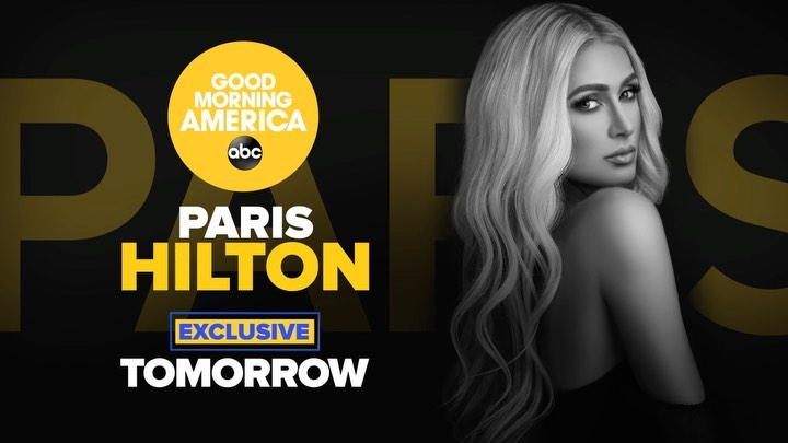 Paris Hilton - Tune in tomorrow morning to @GoodMorningAmerica! I'll be LIVE, talking about my documentary #ThisIsParis, #BreakingCodeSilence and more... You don't want to miss it. ⚡️