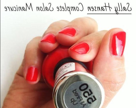 Лак Sally Hansen Complete Salon Manicure, оттенок 550 All Fired Up - rassegna