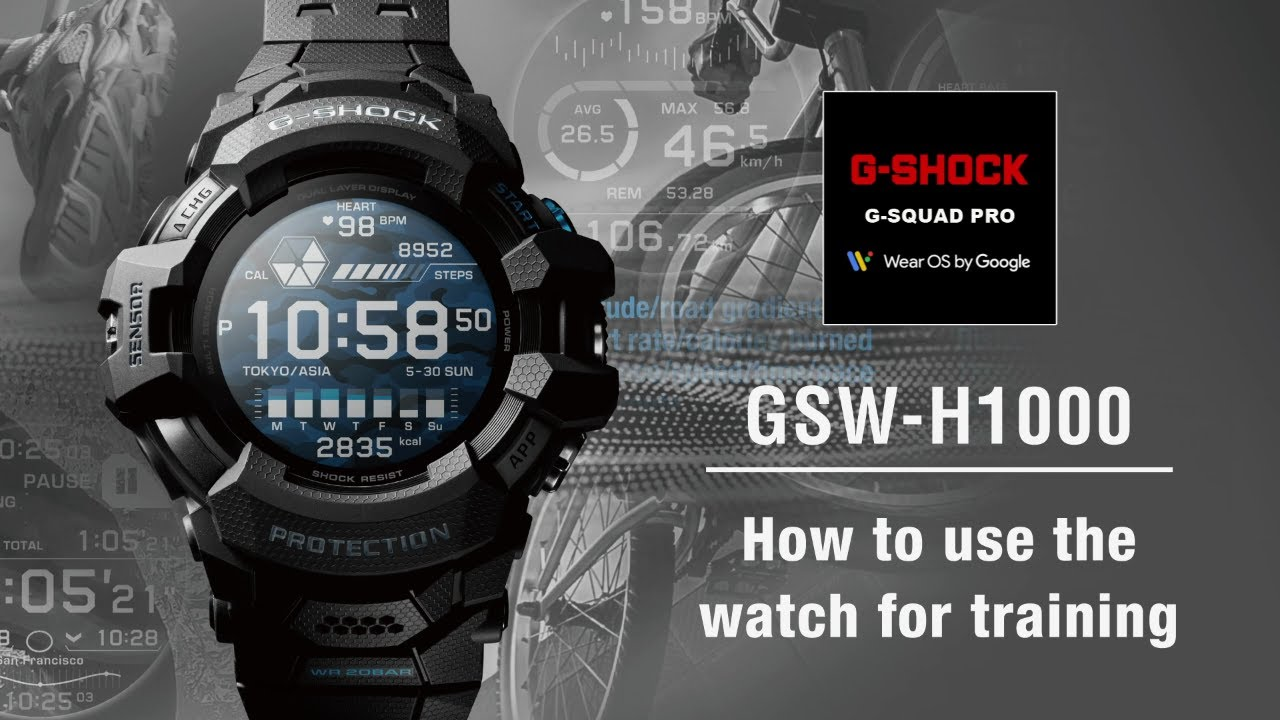 Tips Vol.05: How to use the watch for training | CASIO G-SHOCK GSW-H1000