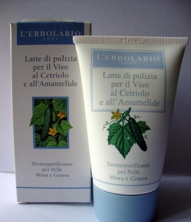 Деликатное очищение комбинированной кожи с L`erbolario Latte di Pulizia per il Viso al Cetriolo e all'Amamelide (L`erbolario Cucumber and Witch Hazel Cleansing Milk) - отзыв