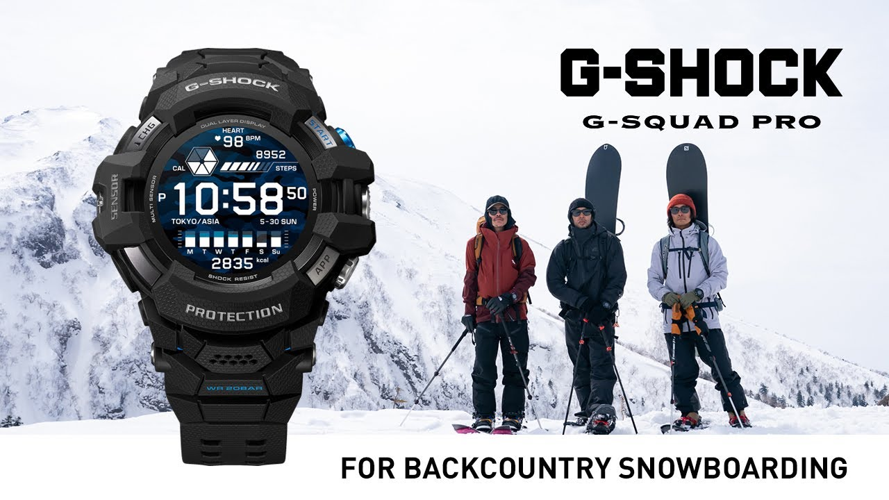 "G-SQUAD PRO Documentary Series  ""THE REAL"" #1 Backcountry Snowboarding :CASIO G-SHOCK"