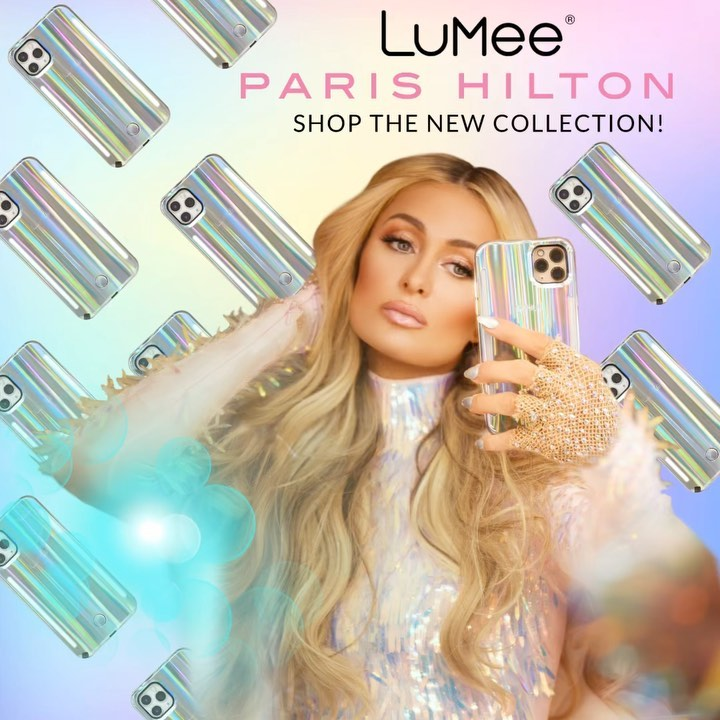 Paris Hilton - My Beauty Secret to taking the perfect selfie is here! ✨👸🏼📱✨ Click link in bio & use my code PARIS10 & get my exclusive @LuMeeCase x Paris Hilton Holographic collection today! 💖 Loves i...