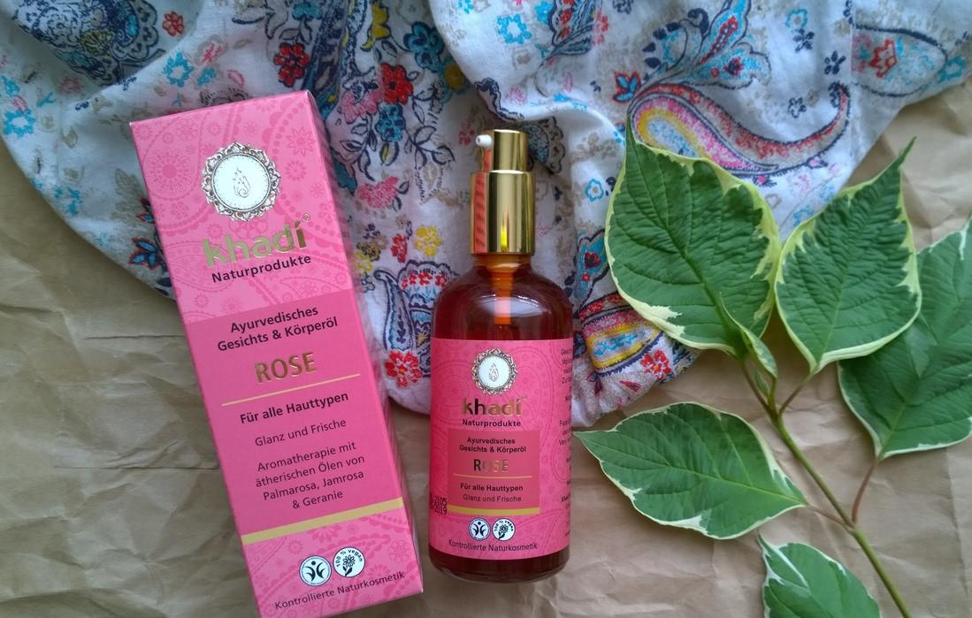 Ayurvedic face and body oil Rose Khadi - отзыв