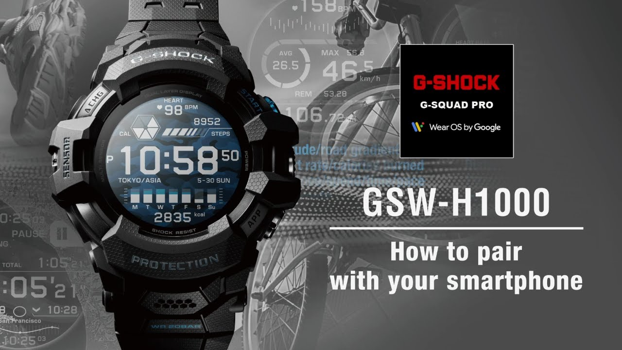 Tips Vol.01: How to pair with your smartphone | CASIO G-SHOCK GSW-H1000