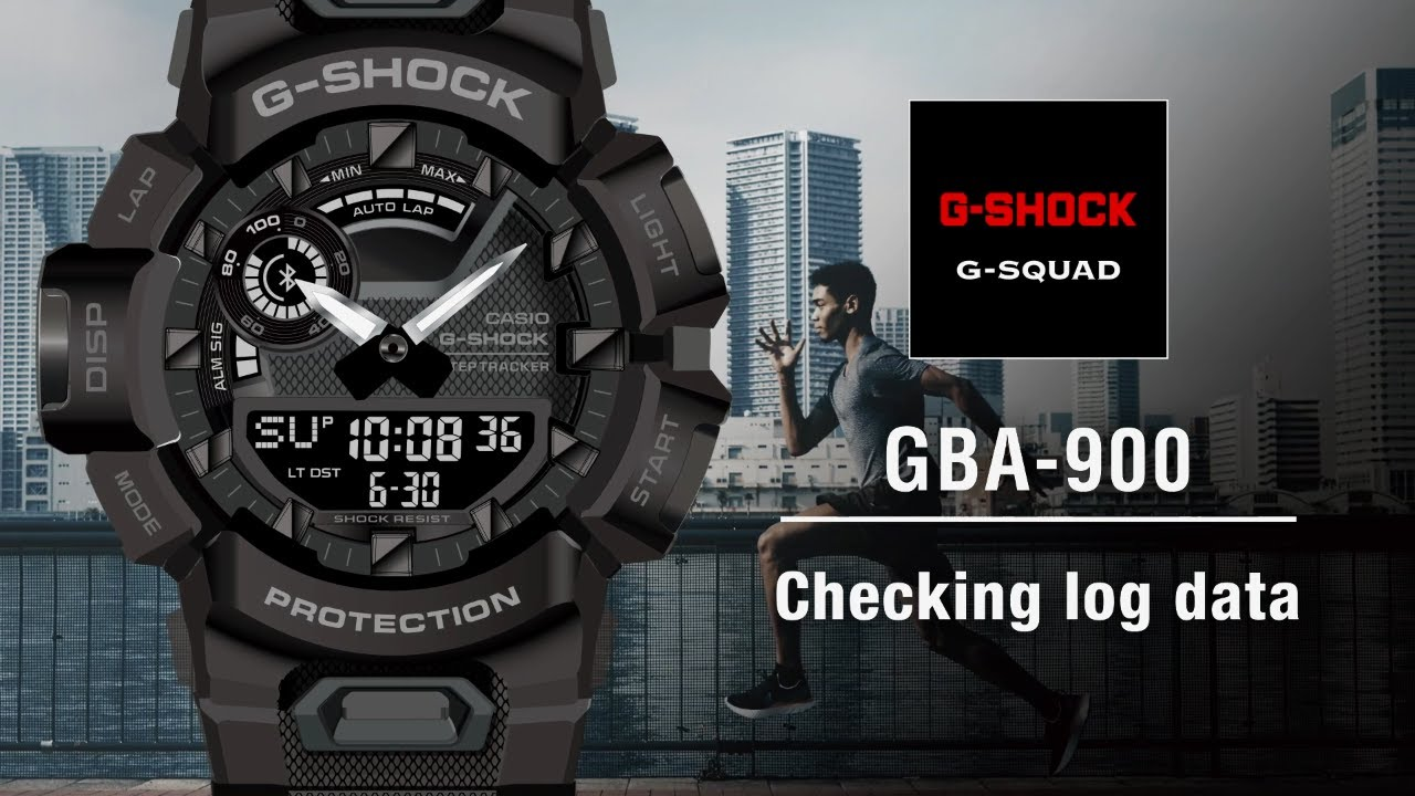 Tips Vol.05: Checking log data | CASIO G-SHOCK GBA-900