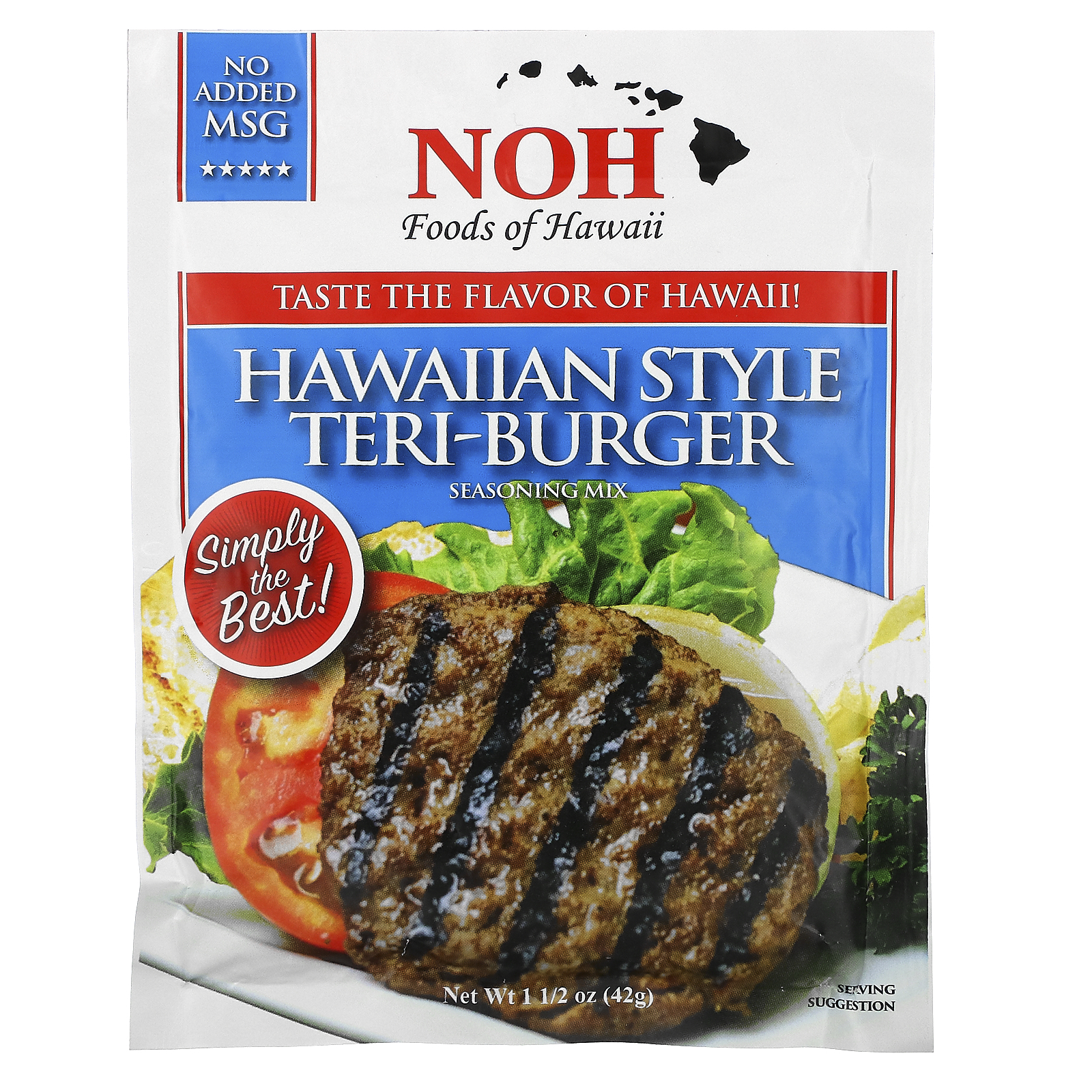 NOH Foods of Hawaii, Hawaiian Style Teri-Burger Seasoning Mix, 1 1/2 oz (42 g)