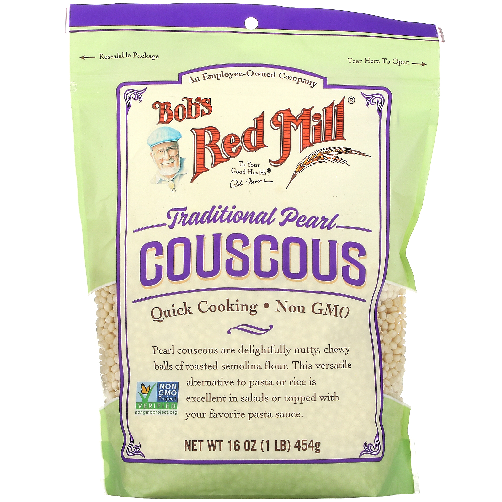 Bob's Red Mill, Traditional Pearl Couscous, 16 oz (454 g)