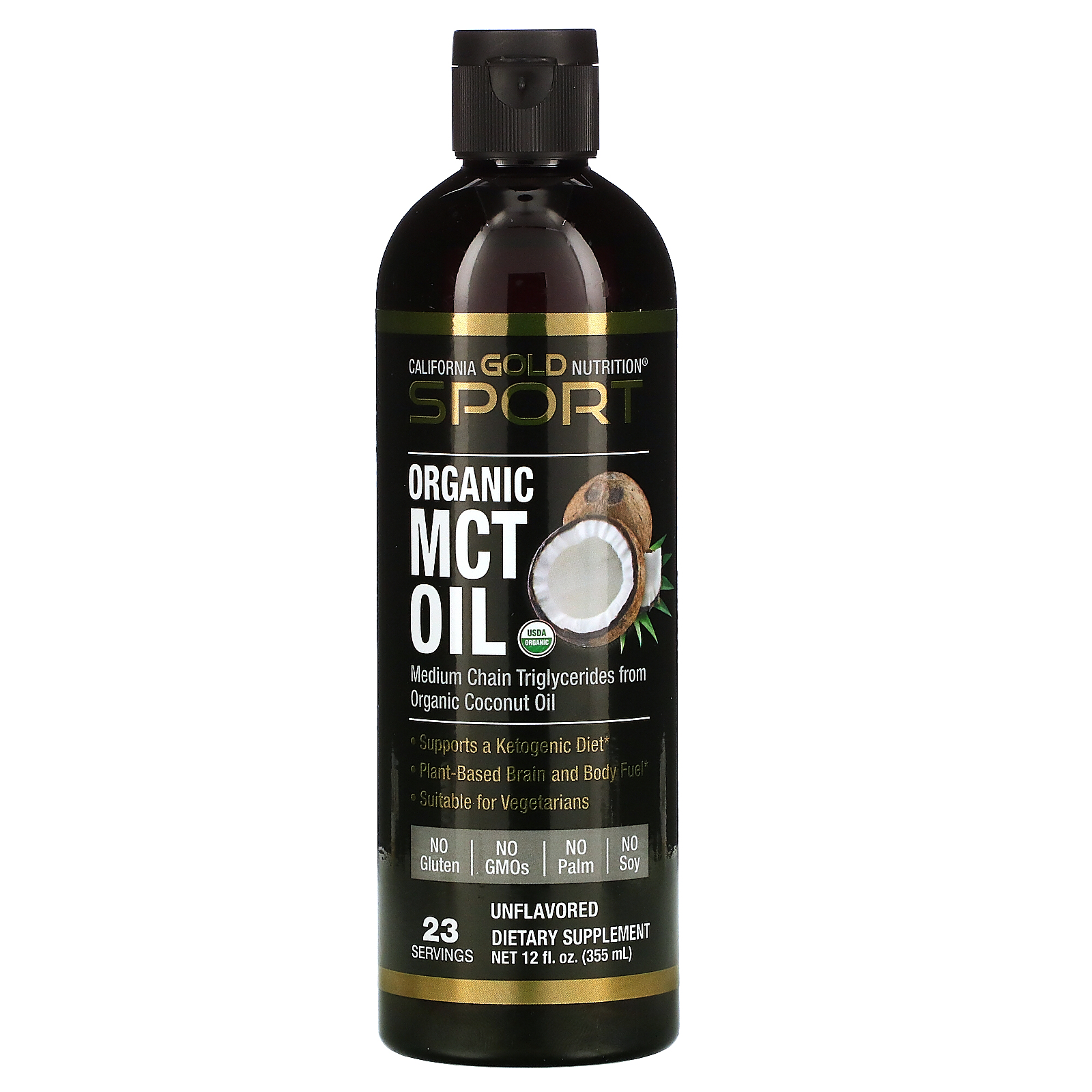 California Gold Nutrition, Organic MCT Oil, 12 fl oz (355 ml)