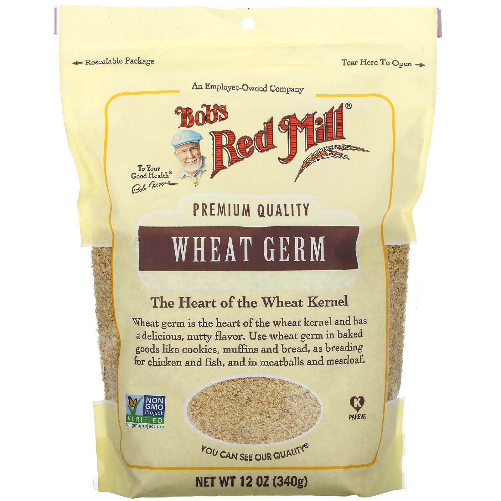 Bob's Red Mill, Wheat Germ, Raw,  12 oz (340 g)