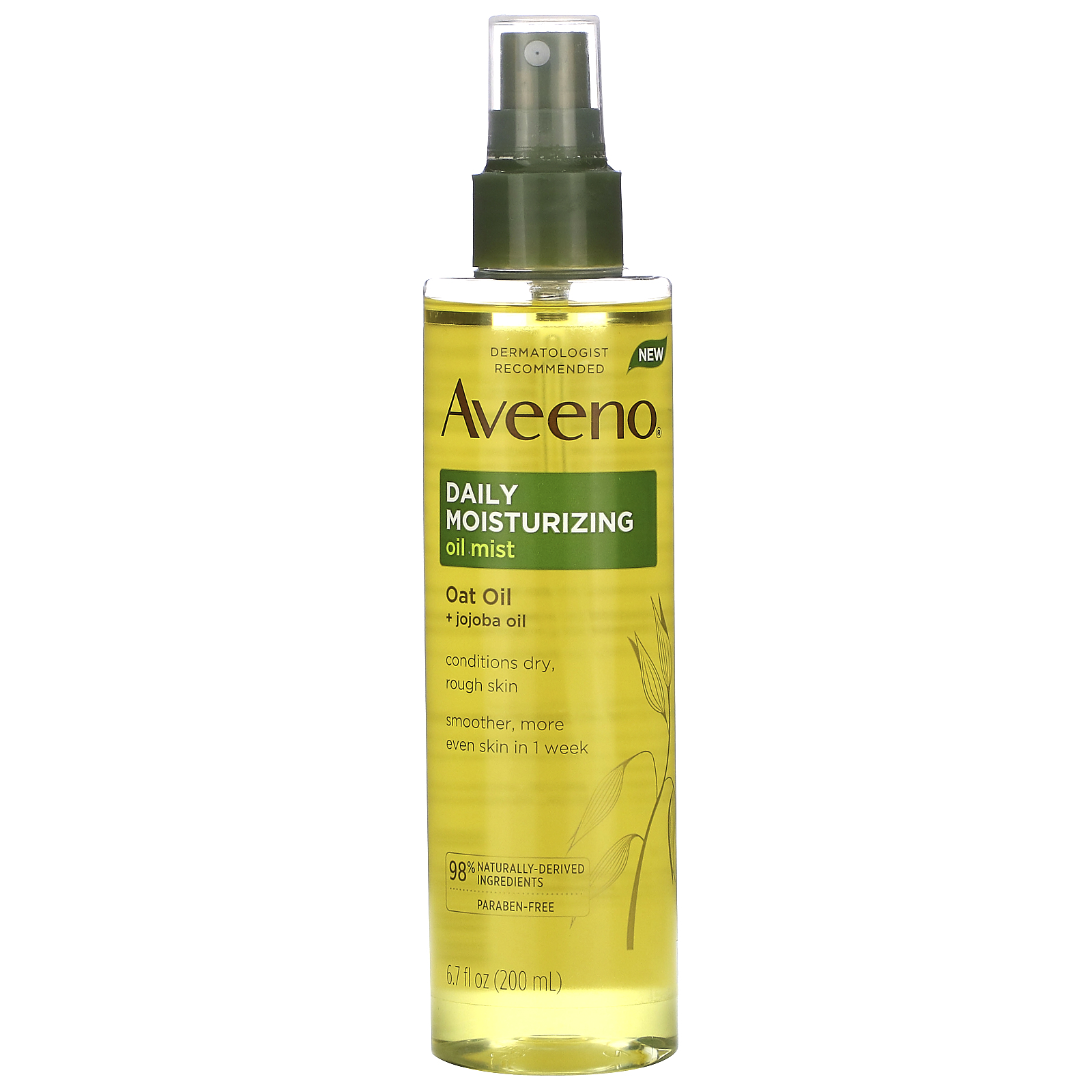 Aveeno, Daily Moisturizing Oil Mist, Oat Oil + Jojoba Oil, 6.7 fl oz (200 ml)