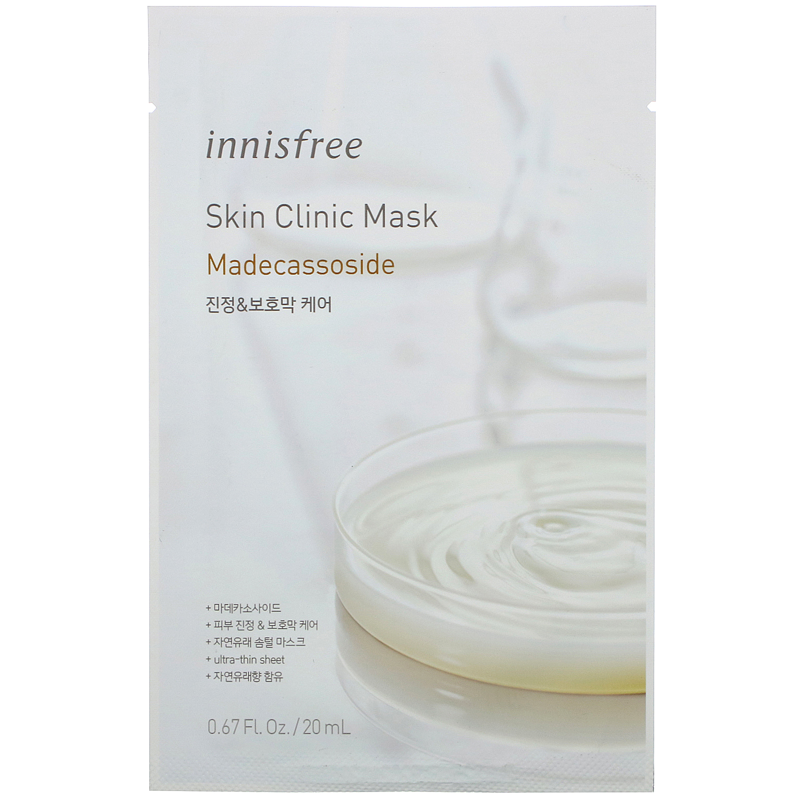 Innisfree, Skin Clinic Mask, Madecassoside,  1 Sheet, 0.67 fl oz (20 ml)