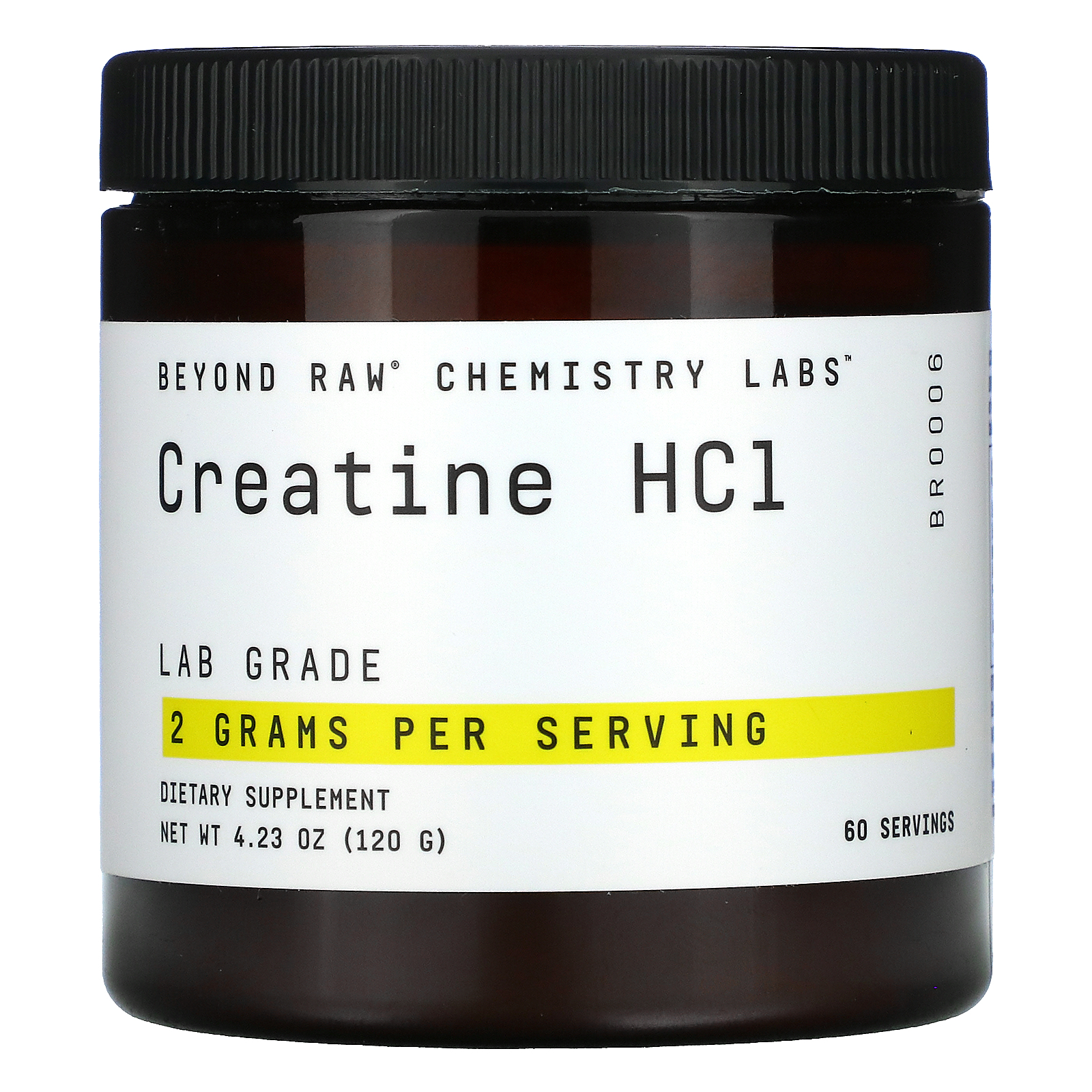 GNC Beyond Raw, Chemistry Labs, Creatine HCL, 4.23 oz (120 g)