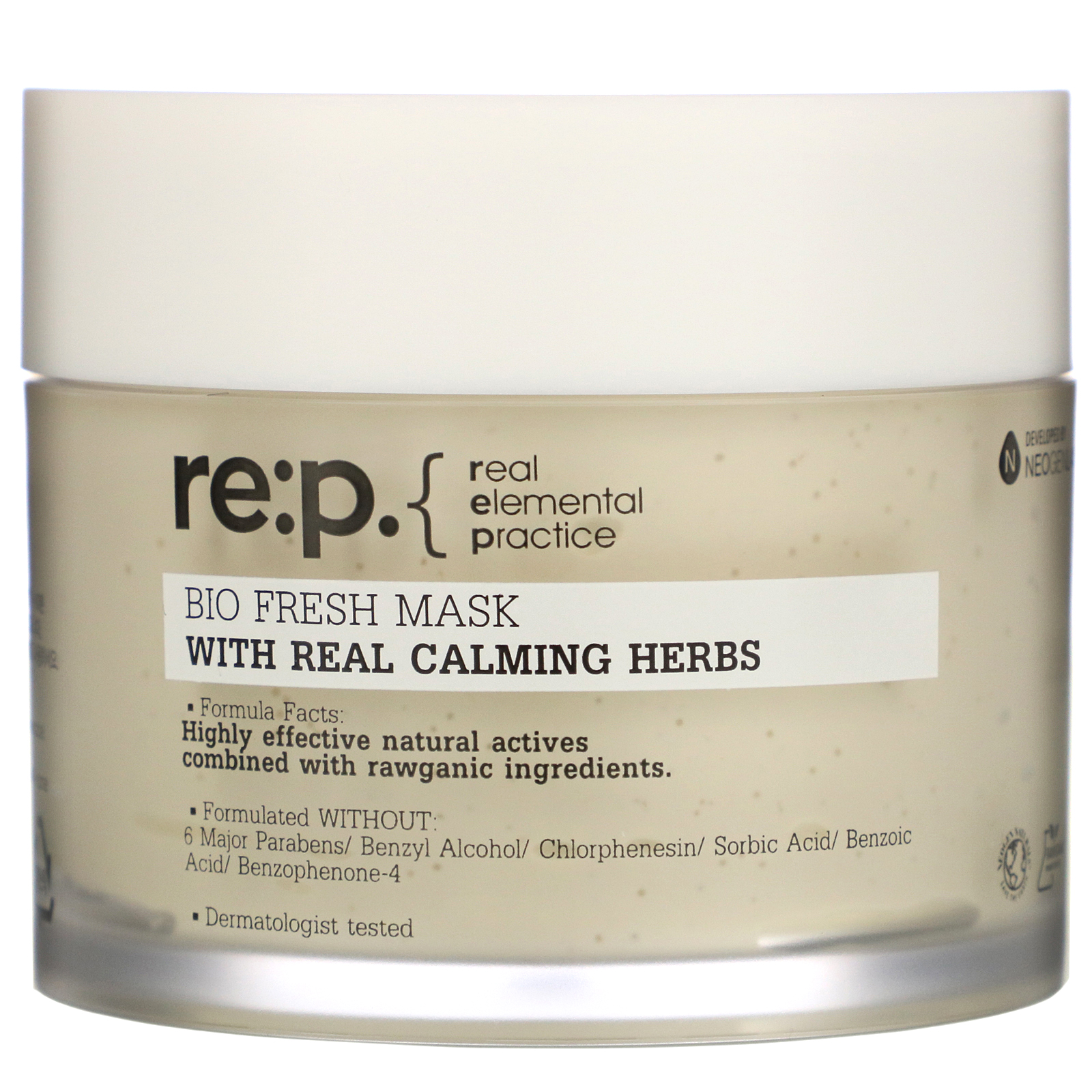 RE:P, Bio Fresh Mask With Real Calming Herbs, 4.58 oz (130 g)