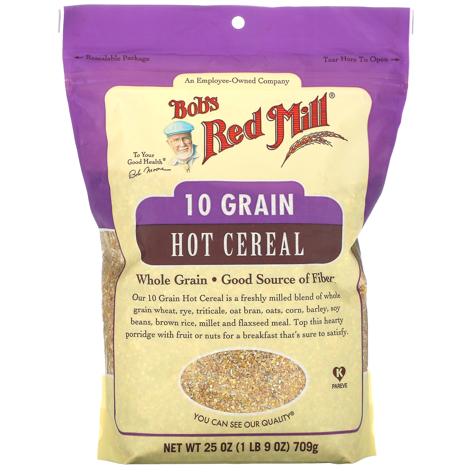 Bob's Red Mill, 10 Grain Hot Cereal, Whole Grain, 25 oz (709 g)