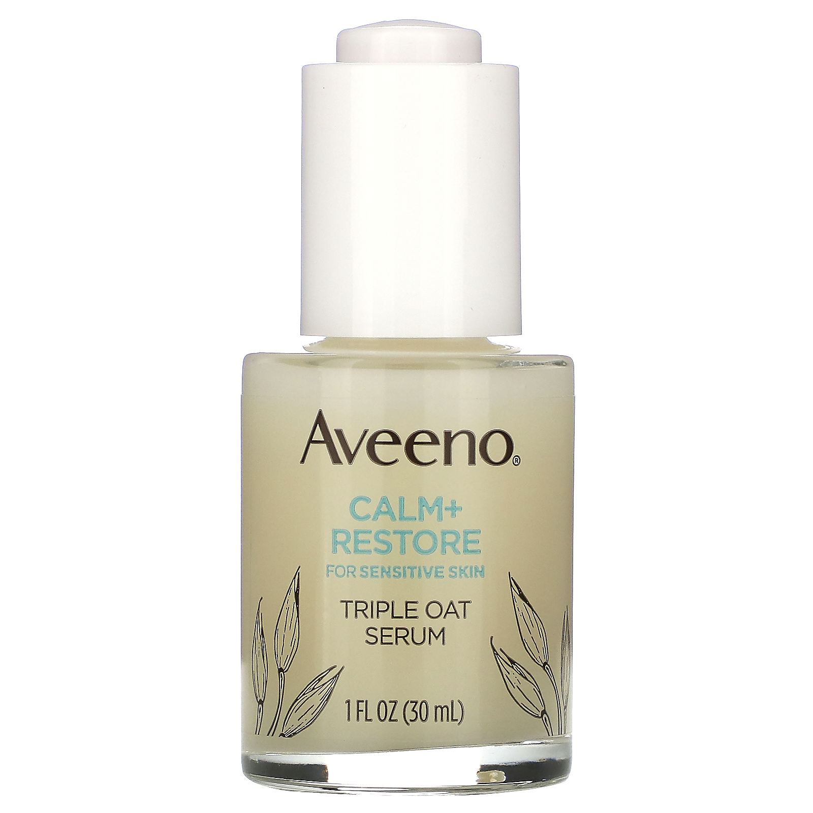 Aveeno, Calm + Restore For Sensitive Skin, Triple Oat Serum,  1 fl oz (30 ml)