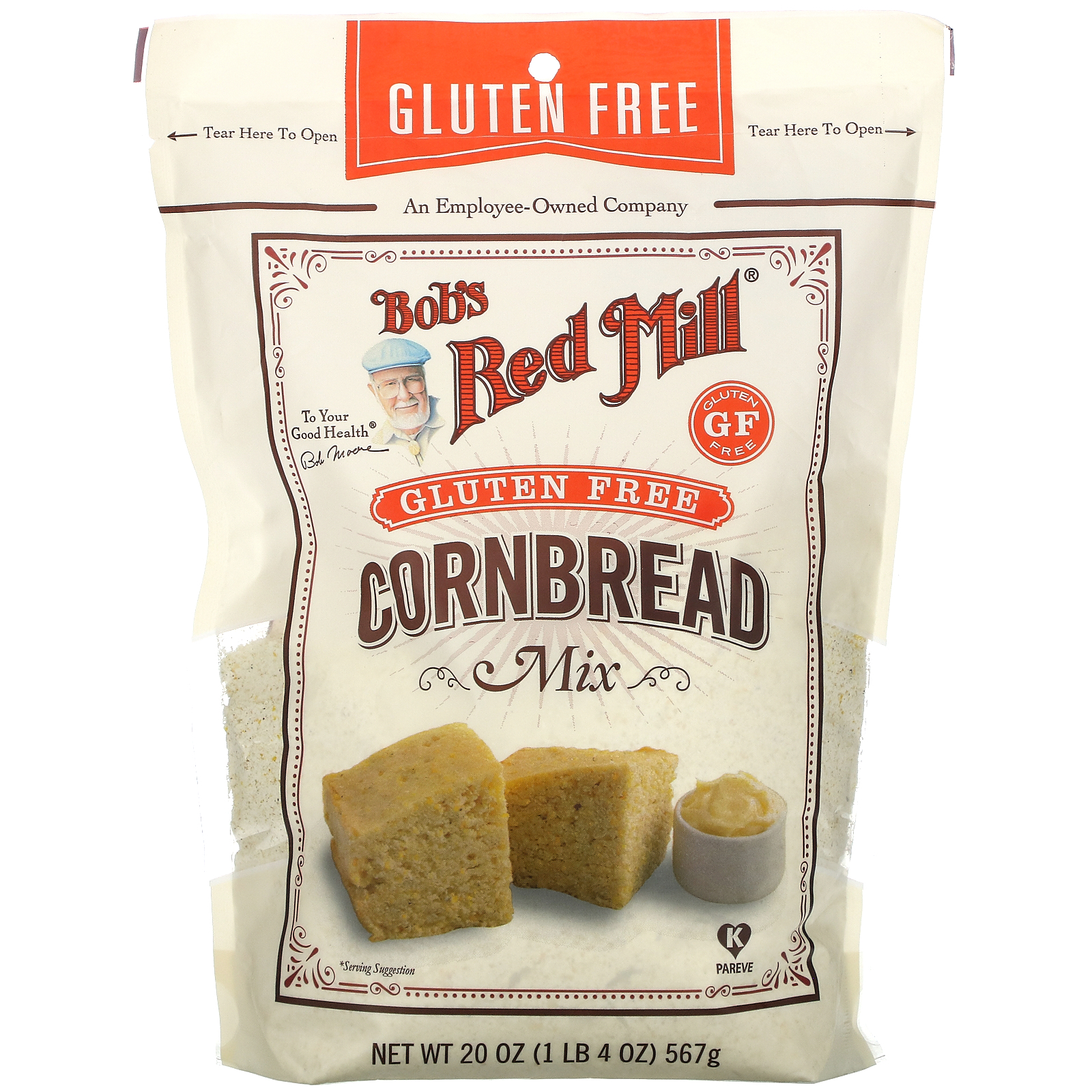 Bob's Red Mill, Cornbread Mix, Gluten Free, 20 oz (567 g)