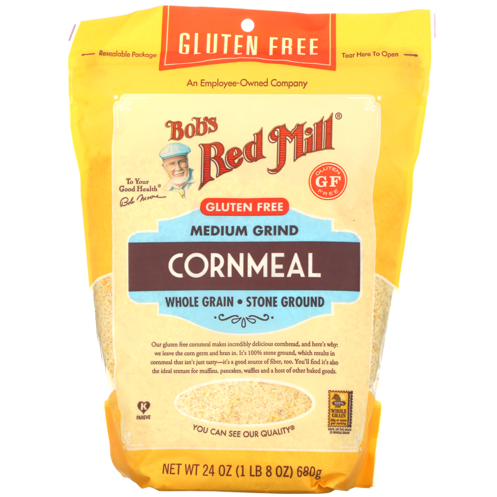 Bob's Red Mill, Medium Grind, Cornmeal, 24 oz (680 g)