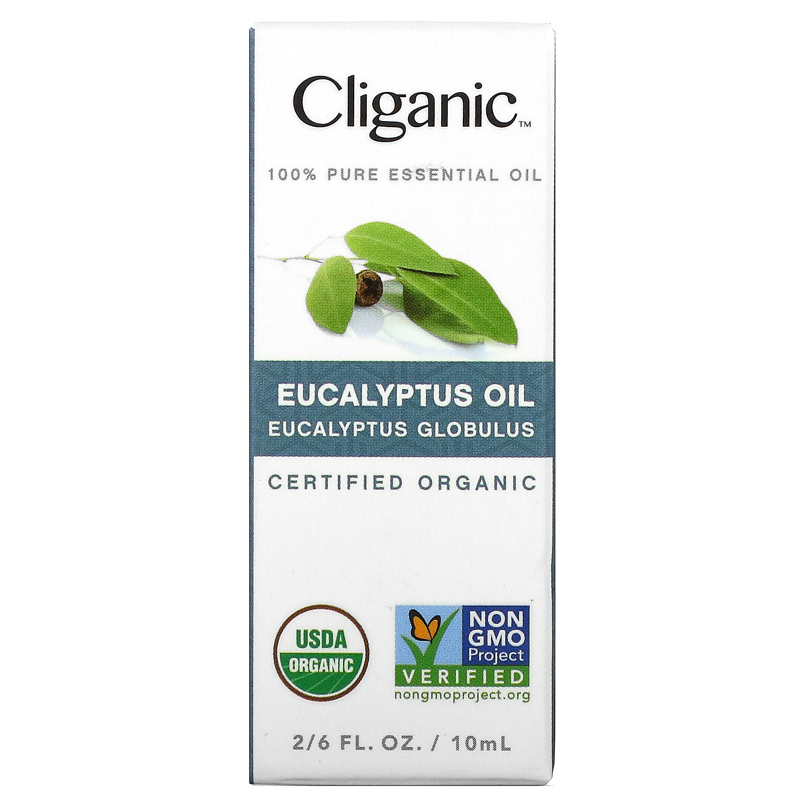 Cliganic, 100% Pure Essential Oil, Eucalyptus, 2/6 fl oz (10 ml)
