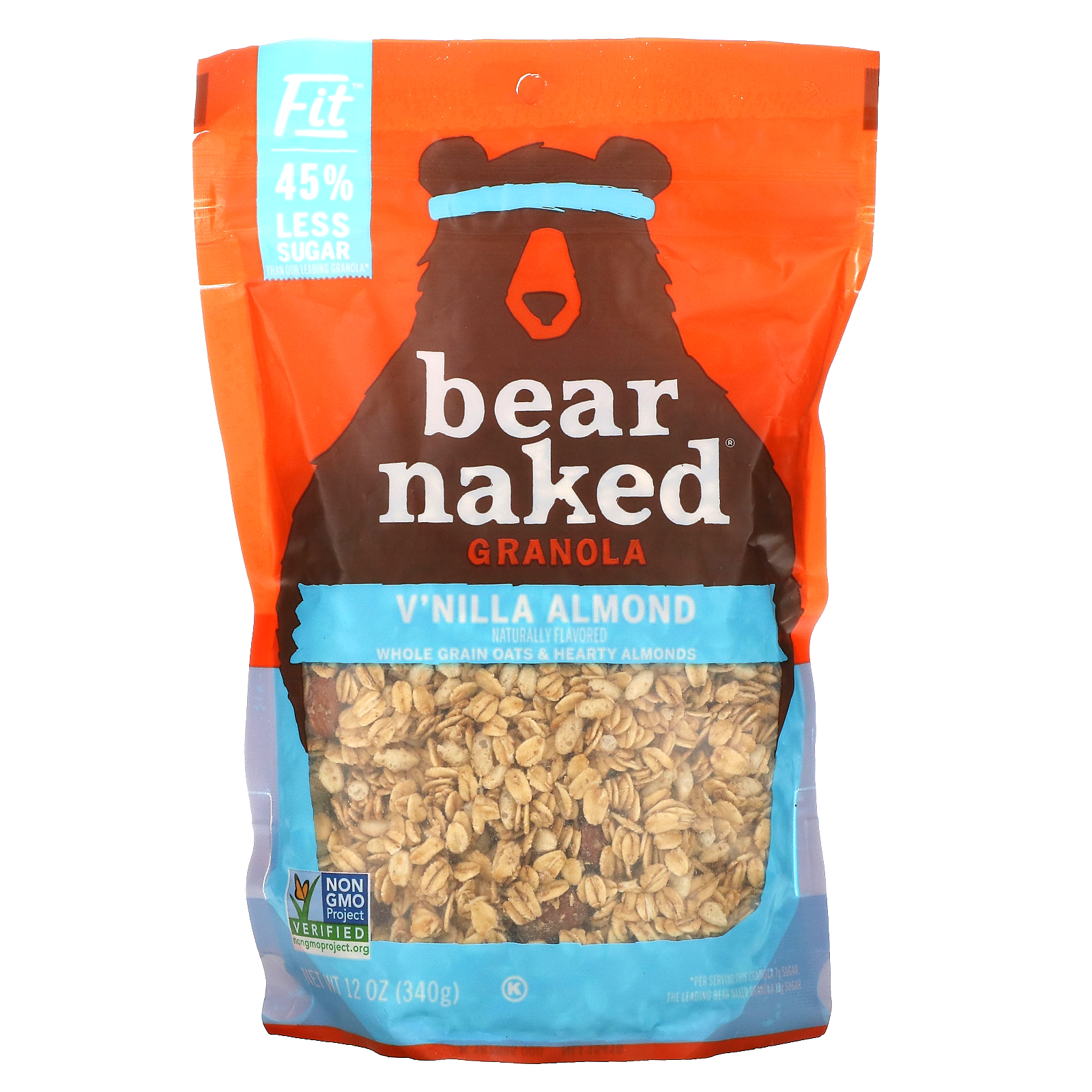 Bear Naked, 100% Natura Granola, Fit, V'nilla Almond, 12 oz (340 g)