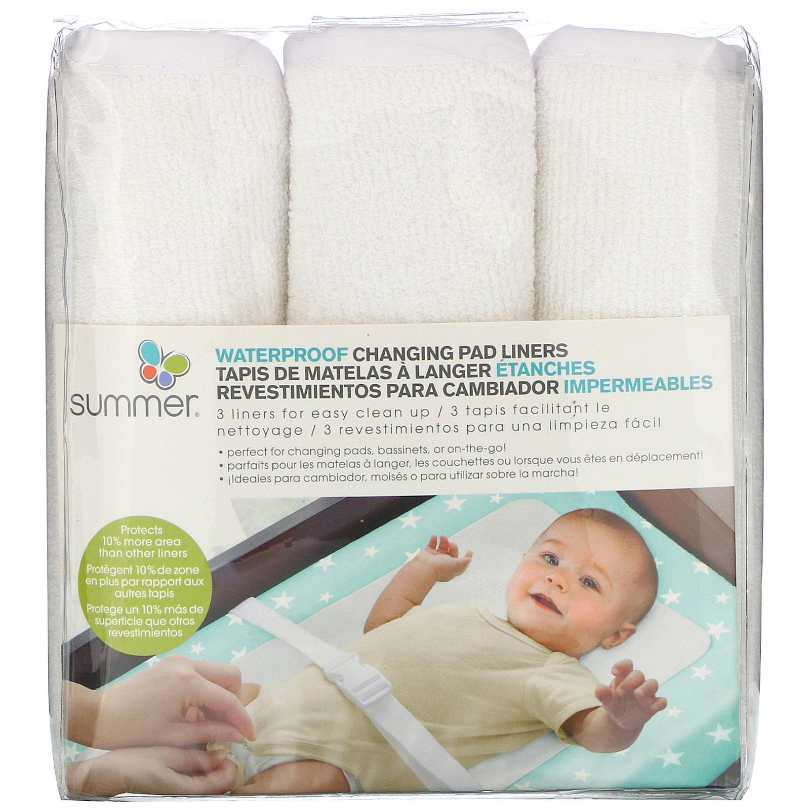Summer Infant, Water Proof Changing Pad Liners, 3 Count