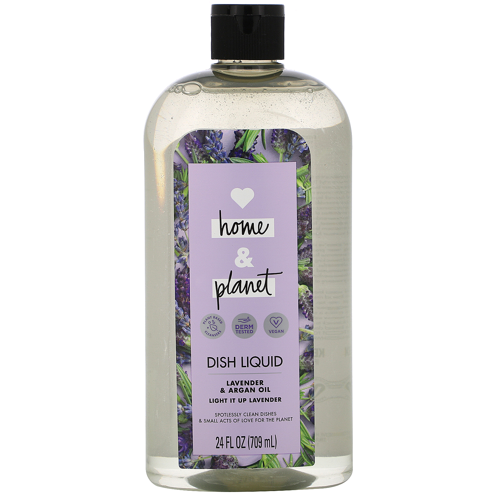 Love Home & Planet, Dish Liquid, Lavender & Argan Oil, 24 fl oz (709 ml)