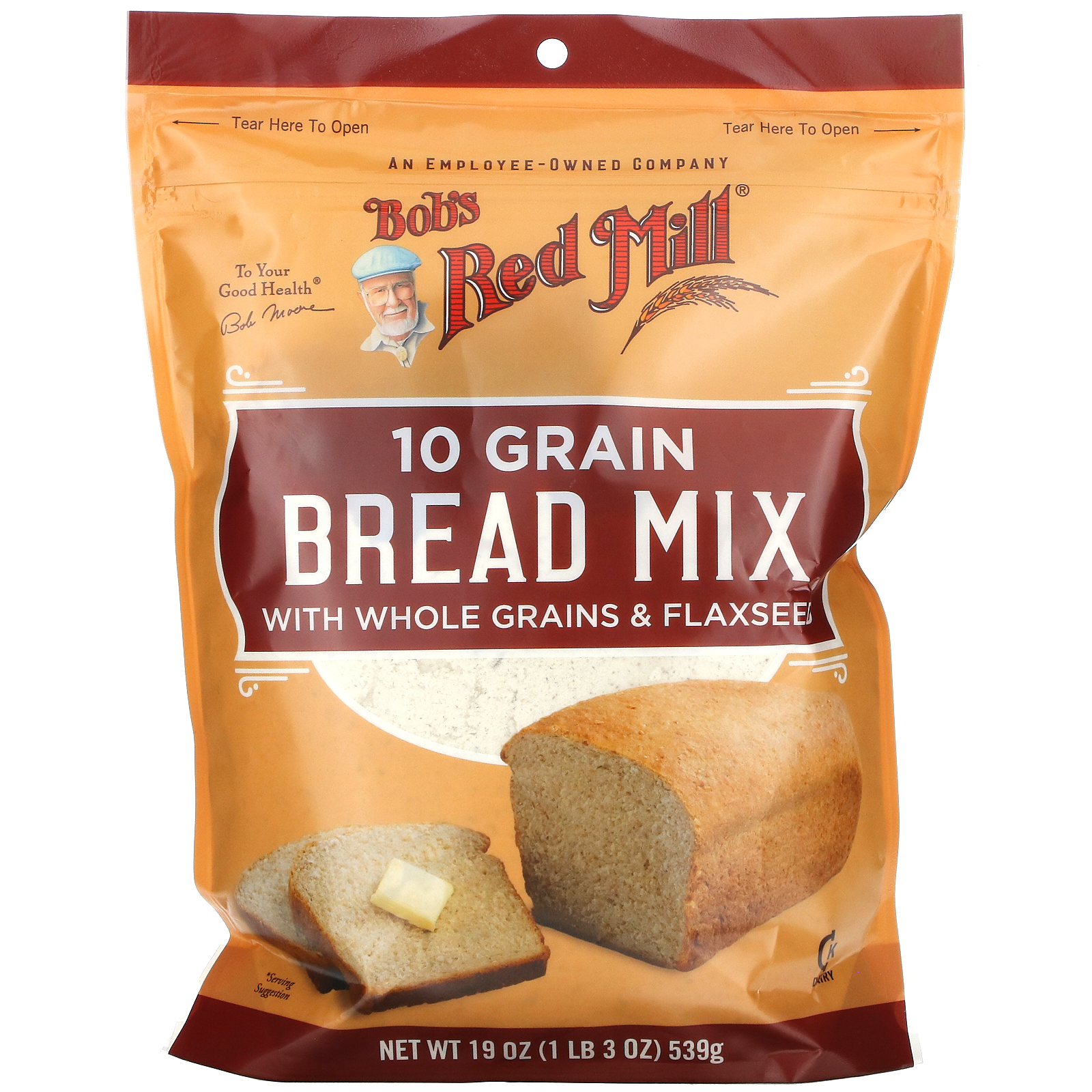 Bob's Red Mill, 10 Grain, Bread Mix, 19 oz (539 g)