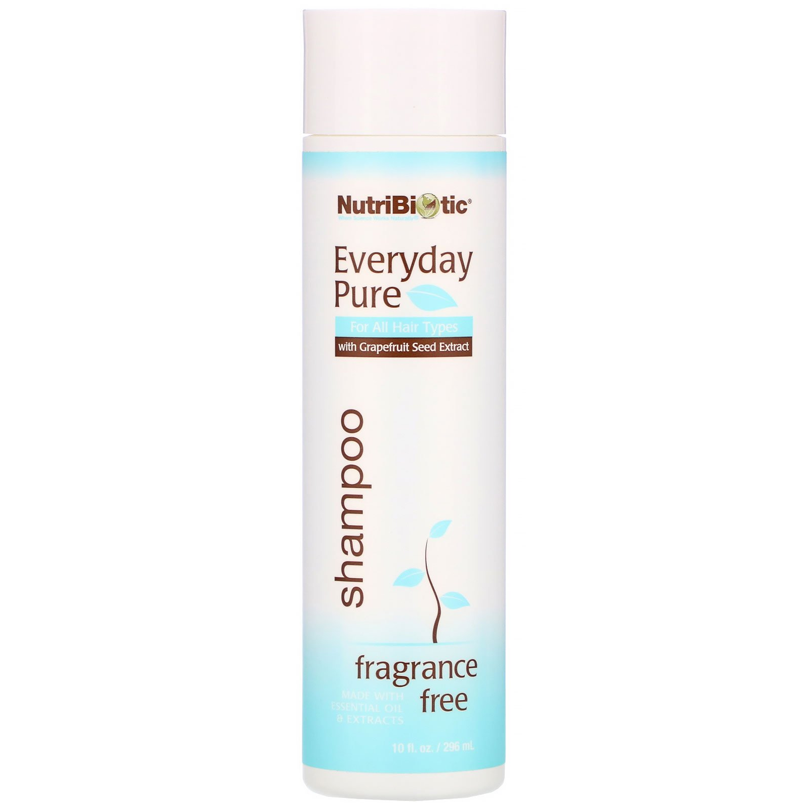 NutriBiotic, Everyday Pure Shampoo, Fragrance Free, 10 fl oz (296 ml)